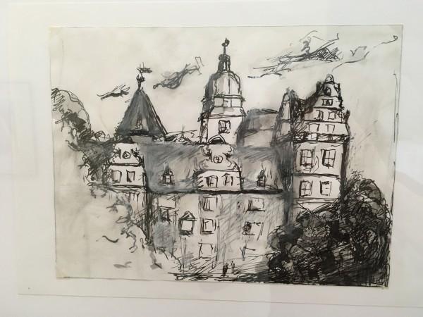 Schloss Wolfsburg, Acrylbild